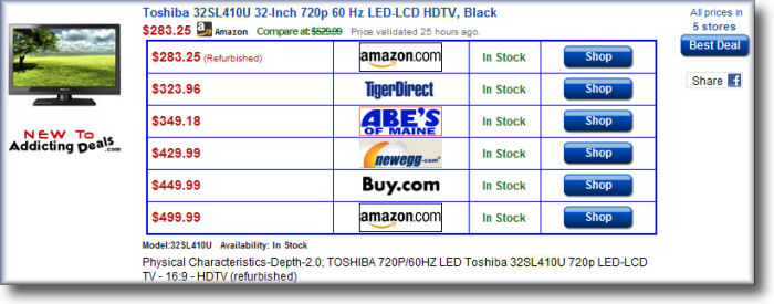 Compare HDTVs