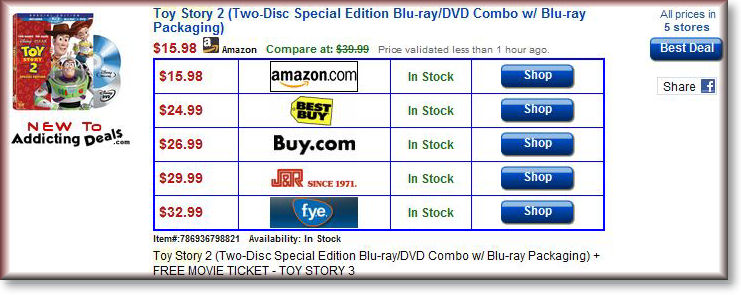 Compare Movie Prices